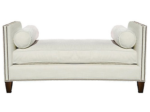 Furniture design Pakistan Backless setee, Which is Easy to Assemble Velvet Window Seat Bed End Sofa Bench.