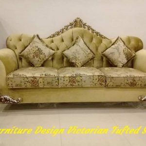 Furniture Design Pakistan, Victorian Tufted Sofa