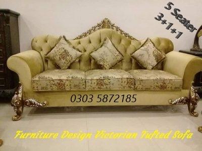 Furniture Design Pakistan, Victorian Tufted Sofa