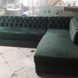 l shape sofa for sale in Rawalpindi With tufting on Backl shape sofa for sale in Rawalpindi
